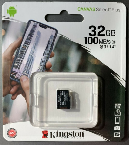 Micro-SD Card 32GB Kingston SDHC (Class10)