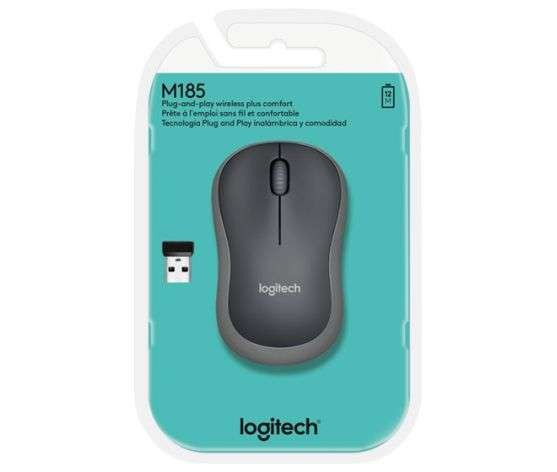 Maus optisch USB Logitech M185 grau Wireless Mouse