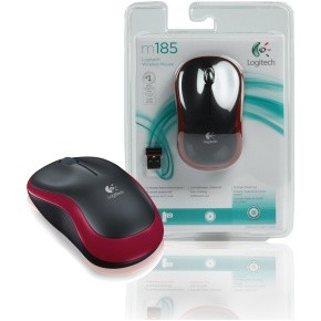 Maus optisch USB Logitech M185 Red