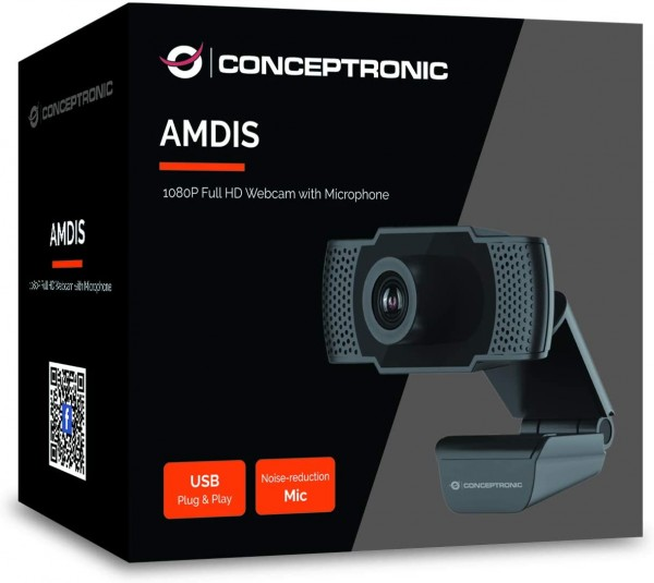 Conceptronic AMDIS01B Full HD Webcam USB2.0
