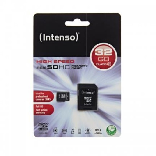 Micro-SD Card 32GB Intenso SDHC Class10