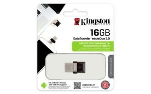 USB-Stick 3.0 16GB Kingston Data Traveler microDuo OTG