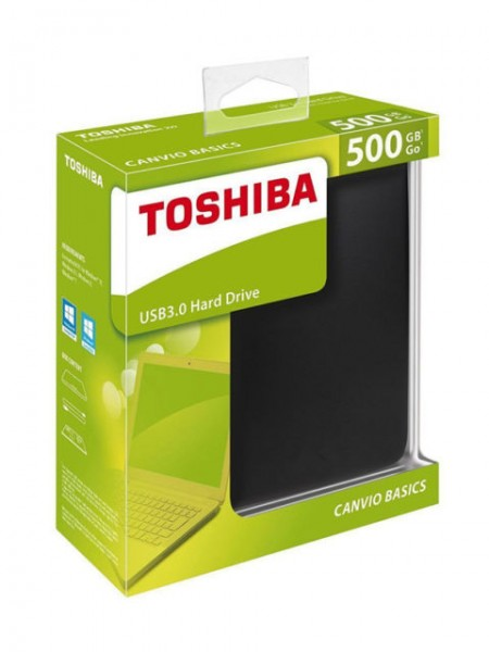 "HDD 6,35cm (2,5"") 500GB Toshiba Canvio Basics USB3.0"