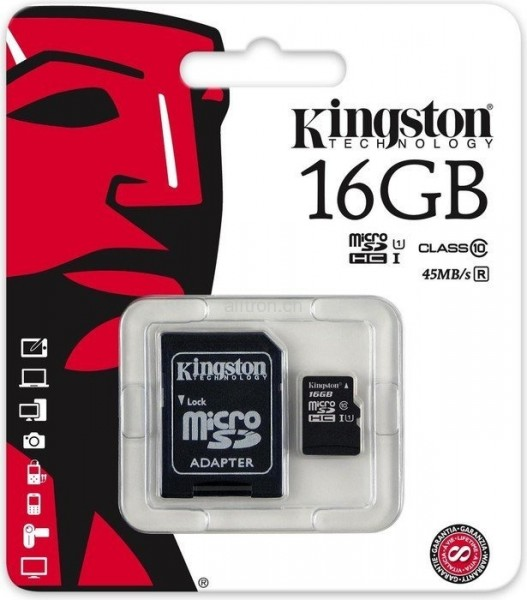 Kingston Micro SD-Card 16GB Class10